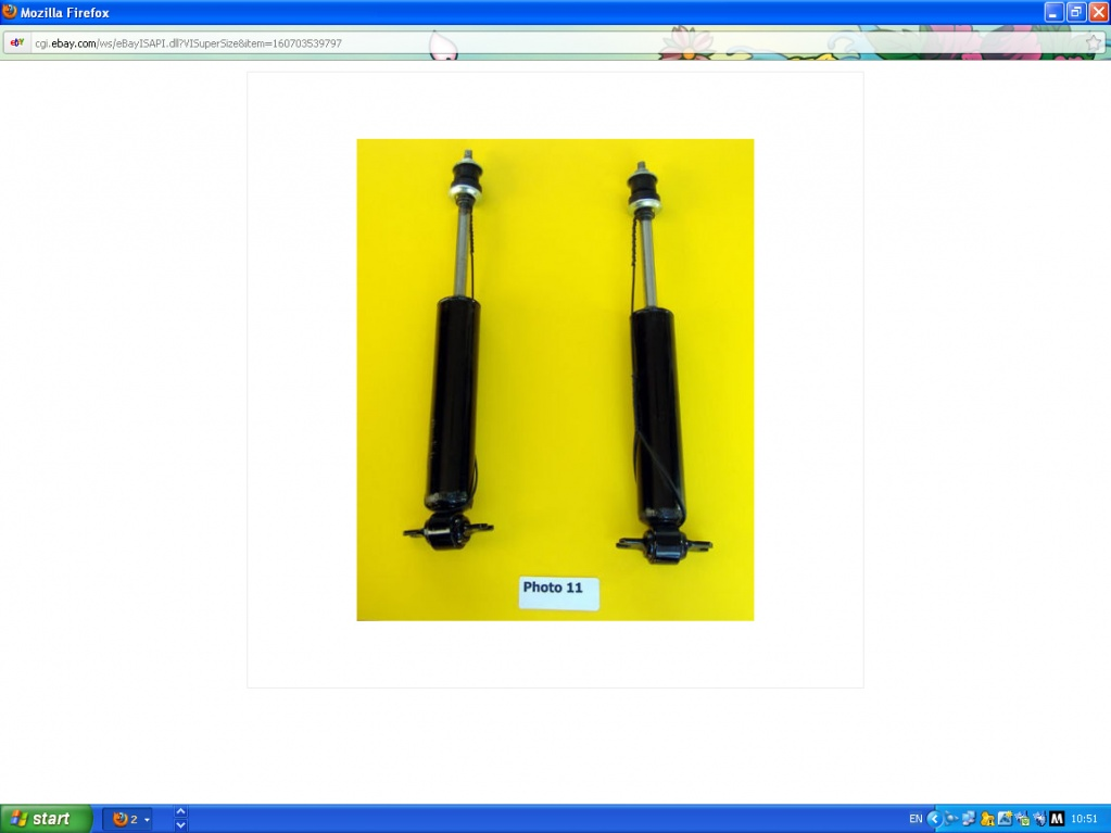 Shock absorber sizing chart/catalogue????